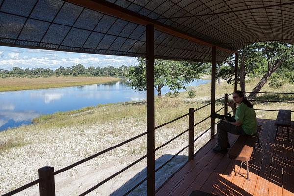 26.4. Bwabwata NP/Kwando Core Area: Jausenpause mit Blick auf den Horseshoe