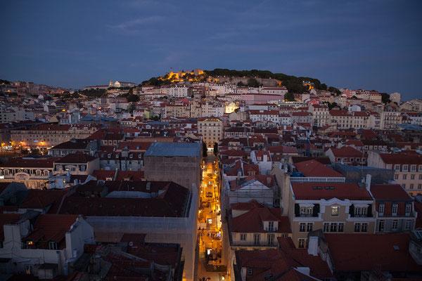 14.09. Tolle Aussicht vom Elevador de Santa Justa: Castelo São Jorge