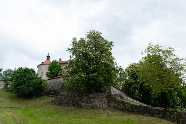 04.05. Škofja Loka: das Wetter bessert sich und wir nutzen die Gelegenheit für einen Spaziergang auf die Burg. Diese wurde 1202 als castrum firmissimum bezeichnet.