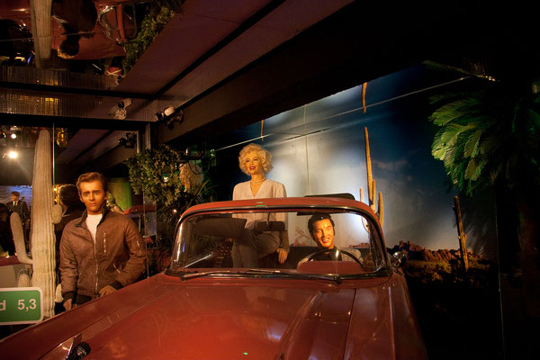 25.07. Panoptikum: J. Dean, M. Monroe & E. Presley