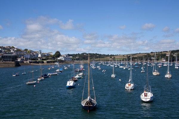 09.09. Falmouth verfügt über einen beeindruckenden Naturhafen.