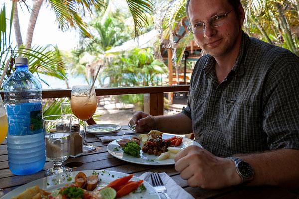 Ausgezeichnetes Essen am Aquarium Beach