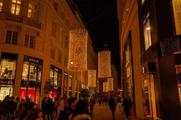 Weihnachtsbeleuchtung in der Innenstadt