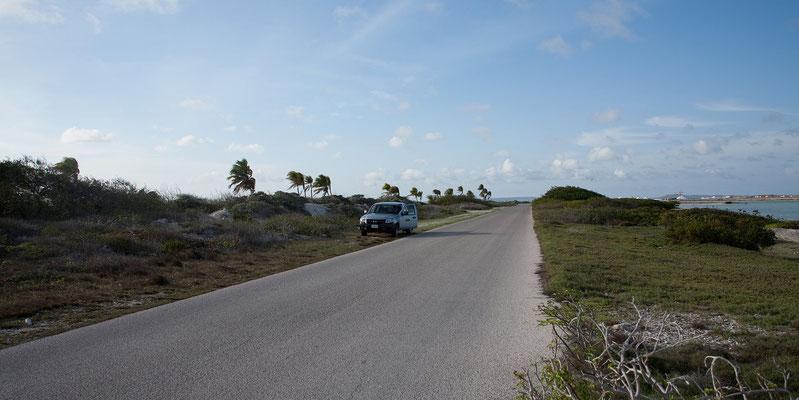Strasse die Küste entlang nach Süden