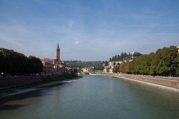 23.09. Verona - Blick vom Ponte Nuovo del Populo