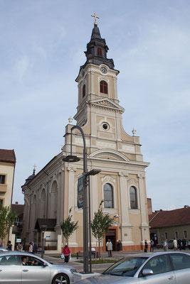 11.6. Oradea: Mondkirche/Biserica Ortodoxa cu Lună - Der Mondphasen Mechanismus (bestehend aus einer Kugel mit 3 m Durchmesser) ist bis heute funktionsfähig.