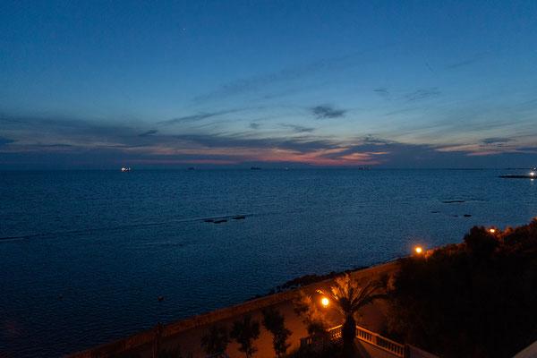 06.06. Blick aufs Meer von unserem Zimmer im Hotel Universal, Livorno