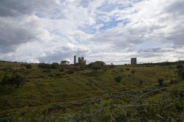 06.09. Im Bodmin Moor trifft man oft auf Industriedenkmäler. Bis ins 19. Jh. (selten bis Anfang des 20. Jh.) wurden hier v.a. Zinn und Kupfer abgebaut.