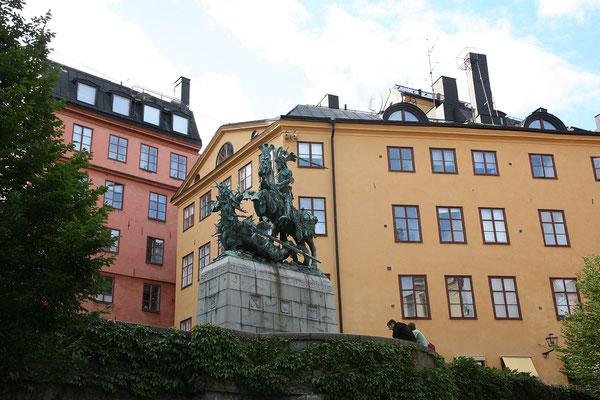 Köpmantorget, St. Georg und der Drache