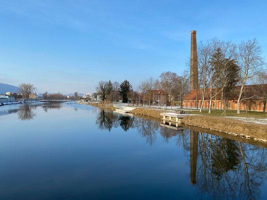 01.02. Entlang der Mur vom Puchsteg/Seifenfabrik zum Murkraftwerk und retour