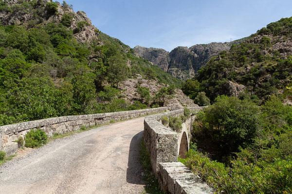 02.06. Wir halten an der Brücke nach Ota und spazieren ein Stück den Fluss entlang.