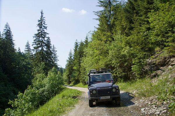 03.06. Eine zweite Route führt ebenso durch die Munții Rodnei.