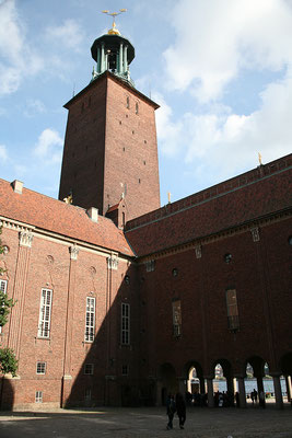 Wieder zurück in Stockholm, besuchen wir das Stadshuset.