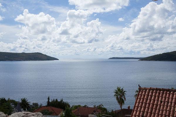 19.9. Herceg Novi - Von der Festung Kanli Kula bietet sich ein wunderbarer Ausblick auf die Bucht von Kotor.