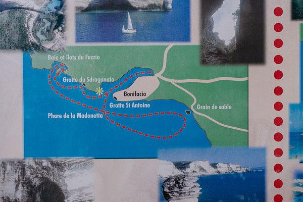 30.5. Heute Vormittag unternehmen wir eine Bootsfahrt um Bonifacio.