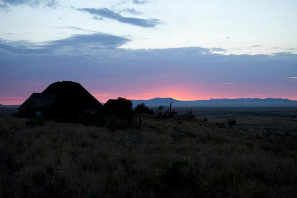 18.2. Sonnenuntergang im Camp Gecko