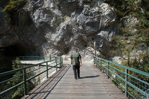 Tolminer Klamm, Hudičev Most