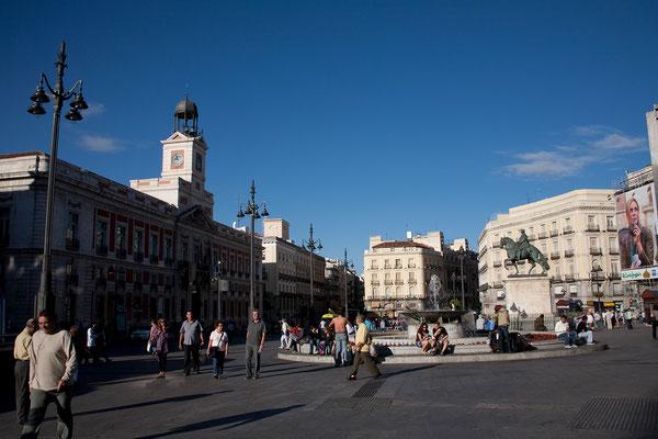 25.09. Schließlich gelangen wir auf die Puerta del Sol.