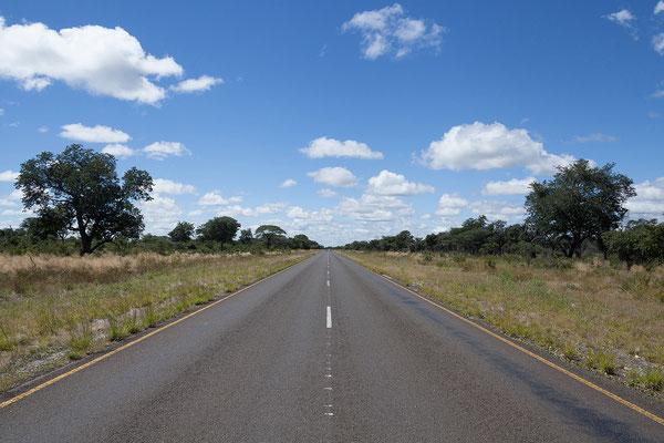26.4. Wir fahren wieder schnurgerade nach Osten, ca. 200km sind es bis Kongola. Somit erreichen wir die Sambesi Region. Gemeinsam mit einem Teil der Region Kavango Ost bildet sie eine schmale Landzunge im N Namibias, bis 2012 als Caprivi bezeichnet.