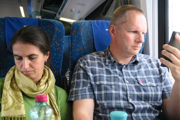 Mit dem Zug von Graz über Wien nach...