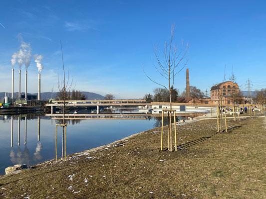 20.1. Entlang der Mur vom Puchsteg/Seifenfabrik zur Puntigamer Brücke und retour.