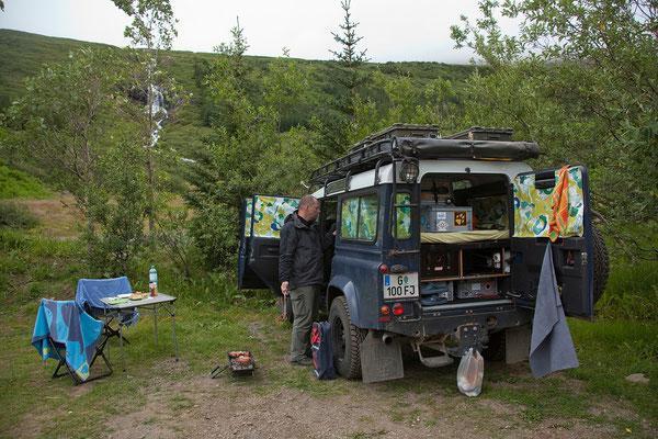 8.8. Westfjorde - Ísafjörður - Camping Tungudalur