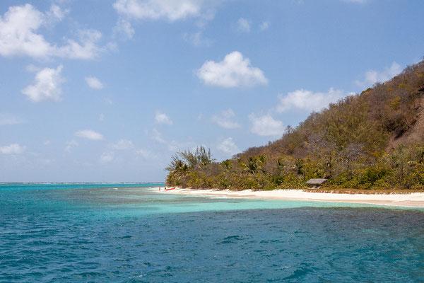 Petit St. Vincent ist eine in Privatbesitz befindliche Hotelinsel.