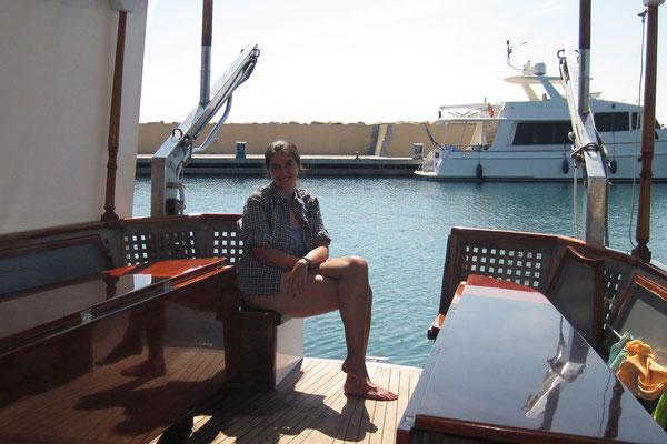 16.09. Mittagspause im Hafen der île de Cavallo