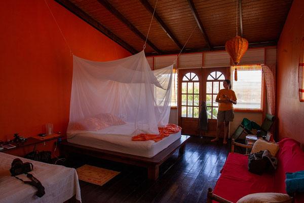 Unser Zimmer in der Cabier Ocean Lodge.
