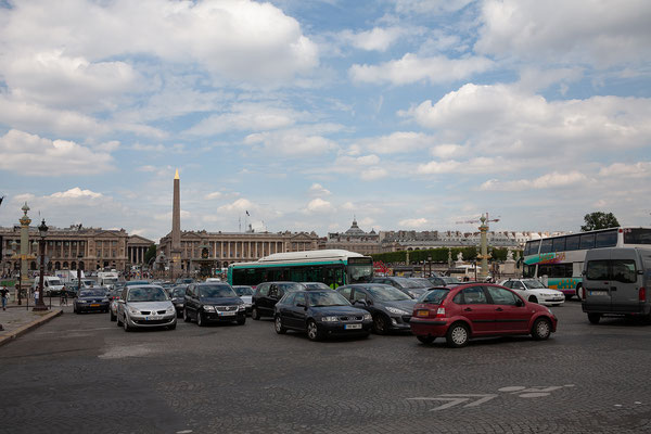 12.06. Place de la Concorde: Verkehr, die Zweite!