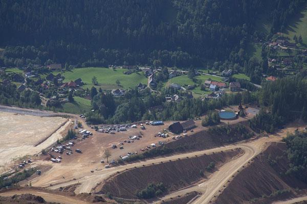 Erzbergwanderung - Blick auf das Camp Palmer