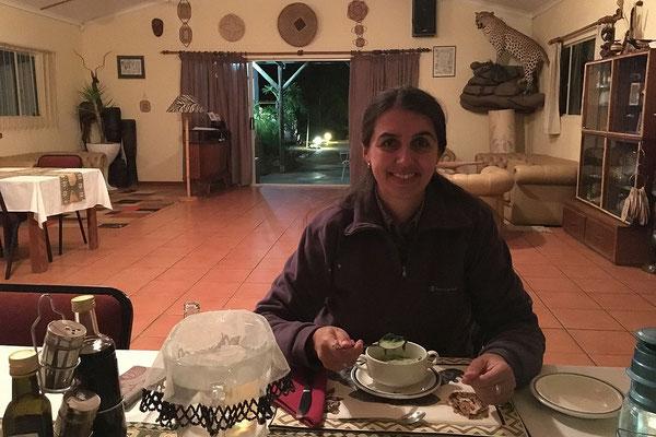 17.05. Etango Ranch Guest Farm, Abendessen