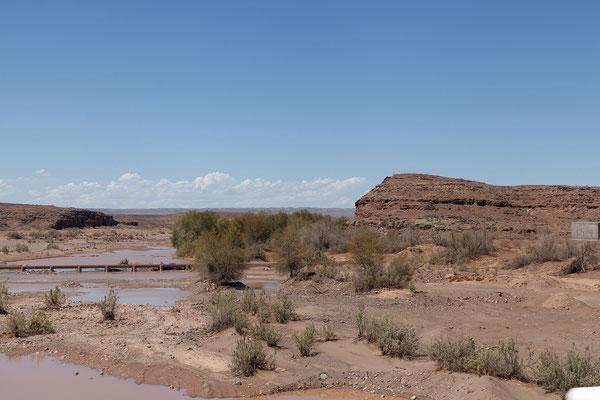 11.02. Der Regen der letzten Tage hat in der Gegend um den Fish River Canyon zu Überschwemmungen geführt und beschert uns einen Umweg aufgrund der Sperre der C12.
