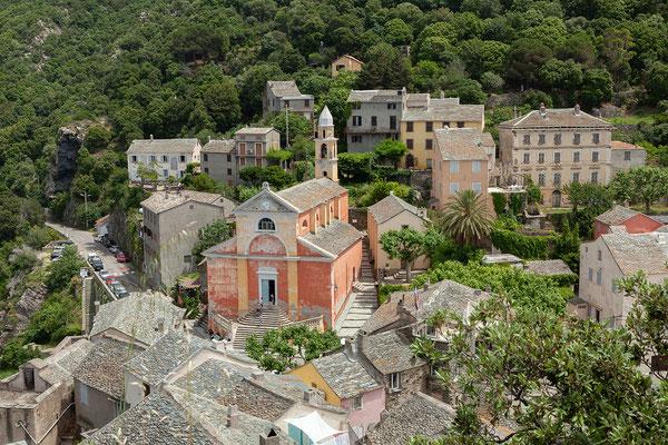 29.05. Blick vom Turm auf Nonza.