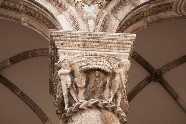 21.09. Dubrovnik - Der Architekt des Rektorenpalasts war Onofrio di Giordano della Cava, der auch die Wasserversorgung der Stadt konstruierte.