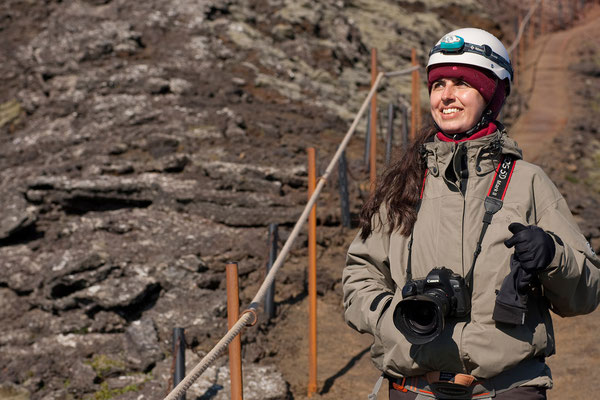 13.8. Ausflug in den Vulkan Þríhnúkagígur