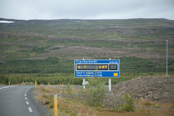 20.8. Über die Fjarðarheiði nach Seyðisfjörður