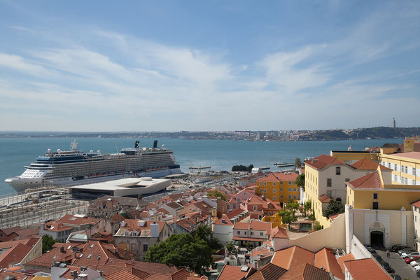 14.09. Panteão Nacional: Blick auf Tejo und Alfama