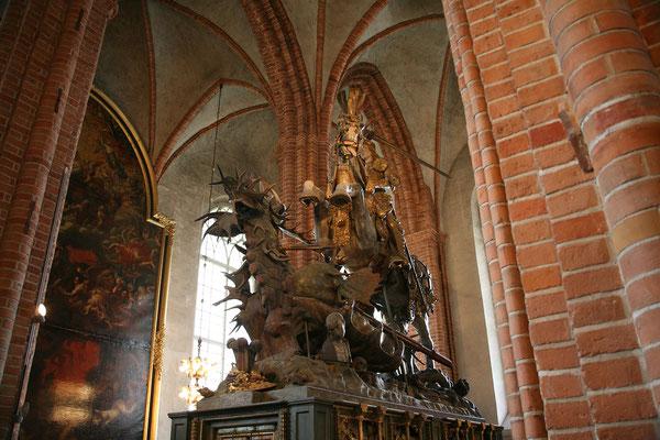 Storkyrkan, St. Georg und der Drache