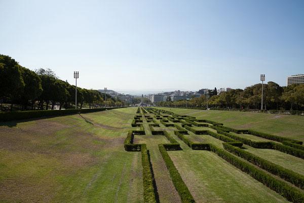 15.09. Parque Eduardo VII: der Blick reicht bis zum Tejo