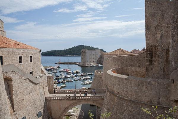 21.09. Dubrovnik - Wir verlassen die Altstadt über das Ploće-Tor