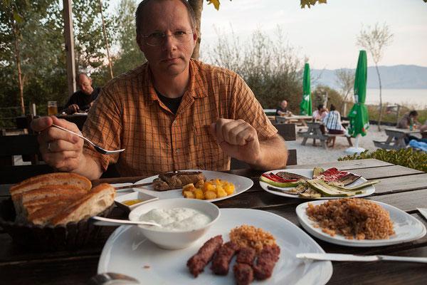14.9. Lake Shkodra Resort, tolles Abendessen