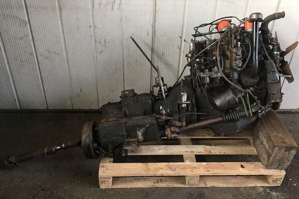 Motor/Getriebe, gut abgelegt.
