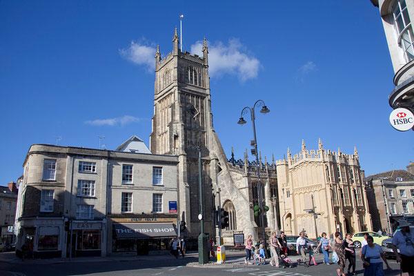 02.09. Heute übernachten wir bei Cirencester, der größten Stadt der Region Cotswolds.