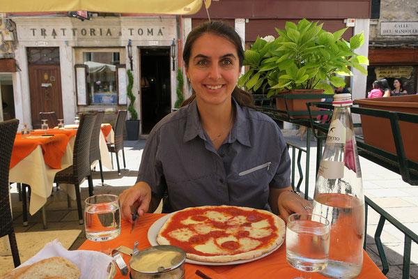 02.07. Campo San Tomà: sehr gutes Mittagessen in der Trattoria San Tomà
