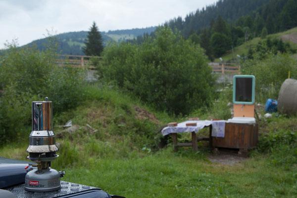 17.06. Am kleinen Campingplatz neben dem Restaurant Mama Uța übernachten wir.