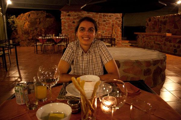 28.2. Ausgezeichnetes Abendessen in der Waterberg Wilderness  Plateau Lodge