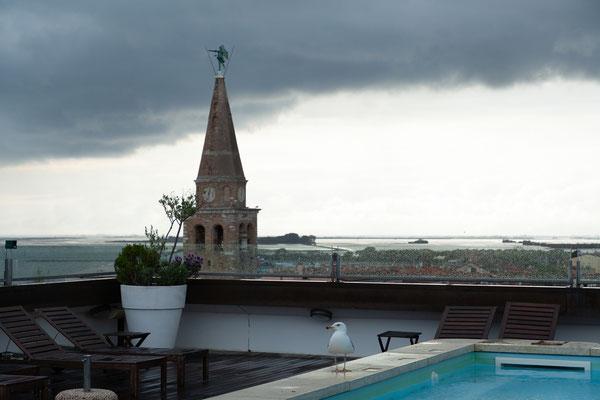 03.05. DAchterrasse Hotel Fonzari, Grado