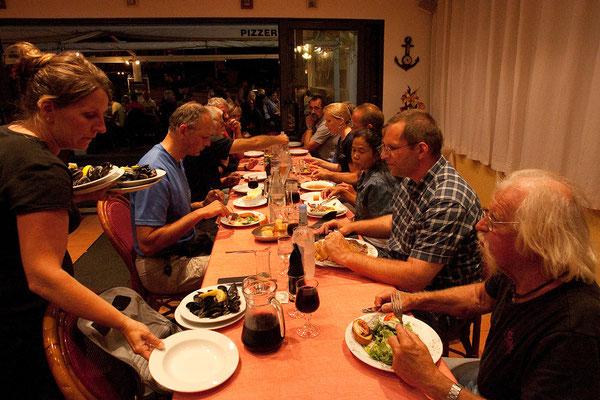16.09. Gemeinsames Abendessen im La Semillante in Bonifacio.