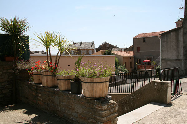 23.5. Cervione, Blick aus unserem Lieblingsrestaurant hier!